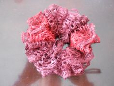 Ruffled/Rag hair scrunchie burgundy/plum by crafts123 on Etsy, $4.00