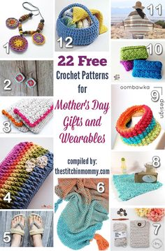22 Free Crochet Patterns for Mother's Day Gifts And Wearables compiled by The Stitchin' Mommy | www.thestitchinmommy.com