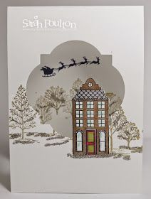 Stampin' Sarah!: Lovely as a Tree meets Holiday Home Christmas Card using Stampin' Up! products