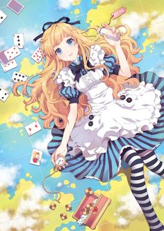 Anime / Manga Alice In Wonderland Eat Me Drink Me