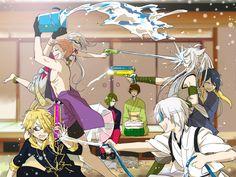 楽しい水遊び / iwatooshi / imanotsurugi / shishiou / tsurumaru kuninaga / kogitsunemaru / mikazuki munechika