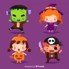 Boo Halloween, Halloween Bebes, Purple Halloween, Halloween Clipart, Polymer Clay Halloween, Cute Clipart, Kawaii Chibi, Topper, Disney And More