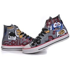 147f25395800 New Gorillaz Converse Chuck Taylor Collection by Jamie Hewlett All... ❤  liked on Polyvore featuring shoes