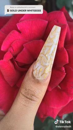 Diy Acrylic Nails, Cute Acrylic Nail Designs, Nagellack Design, Nagellack Trends, Nail Art Designs Videos, Nail Art Videos, Nail Art Hacks, Nail Art Diy, Dope Nails