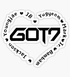 GOT7 Heart Sticker