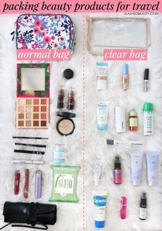 More Than 15 Makeshow To Pack Beauty Products For Travel How To Pack makeshow para empacar productos de belleza para viajes cómo empacar makeshow zum verpacken von schönheitsprodukten für die reise come imballare i prodotti di bellezza per i viaggi Carry On Toiletries, Packing Toiletries, Travel Toiletry Bag, Beauty Hacks That Actually Work, Beauty Tips For Face, Beauty Advice, Beauty Care, Diy Beauty, Beauty Skin
