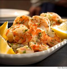 Lemon-Garlic Marinated Shrimp. Great site for healthy meals, snacks, beverages, etc. Easy, advanced category system to give you meal suggestions to your preference (dietary preferences, convenience, cooking method, allergies, main ingredients, etc). All recipes include nutritional information.