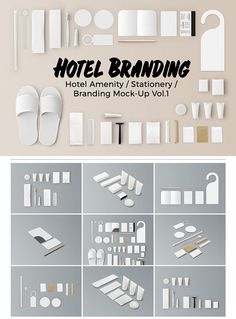 Hotel Amenity / Stationery / Branding Mockups - Perfect for hotel branding identity.