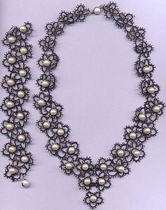 parure nero e perle - from Edda Guastalla Bianchetti's site