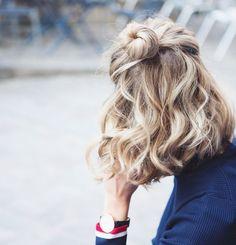 Inspiration, blond med mörka rötter