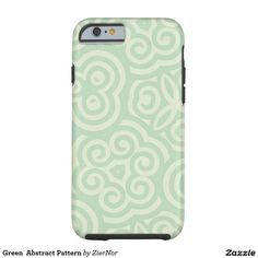Green  Abstract Pattern Tough iPhone 6 Case