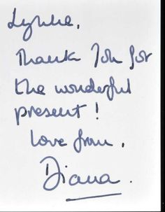 Princess Diana note