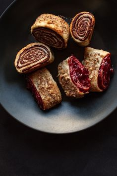 cherry + semi sweet chocolate rugelach