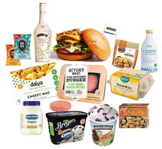 2017 was a great year for new vegan products! Lots of mainstream brands joining the trend as well. Can't wait to see what's ahead for No Dairy Recipes, Vegan Recipes, Corn Dogs, Fat Burning Foods, Aesthetic Food, Vegan Snacks, Sin Gluten, Going Vegan, Food Porn