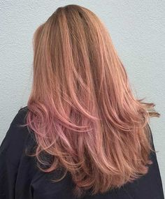 Dusty Rose Gold Balayage Hair
