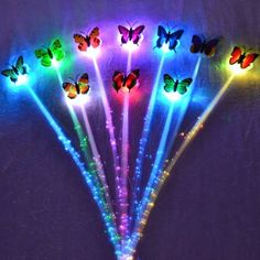 clip lumire multicolore papillon 146 euros - Lumire Colore