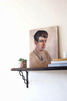 Poppytalk: How To: Hang Vintage-Style Bracket Shelf
