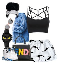 """""""Untitled #882"""" by cjasmyne on Polyvore featuring Orca, Fendi, Retrò and Topshop"""