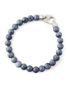 Beaded Gray Coral Bracelet, 8mm, Women's - Stephen Webster