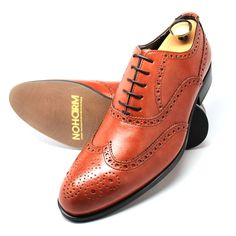 Congac Vegan Full Brogue Oxford Shoe. Made in Italy