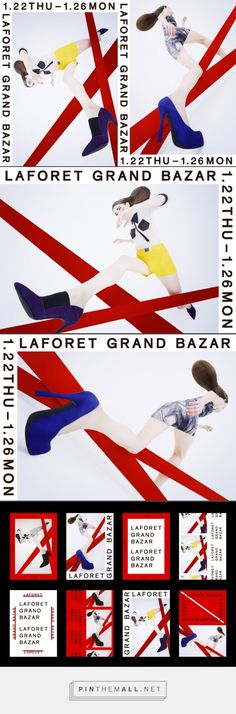 LAFORET GRAND BAZAR 2015 WINTER / Naonori Yago Web Design, Japan Design, Book Design, Layout Design, Design Art, Poster Design, Poster Layout, Poster Ads, Print Layout