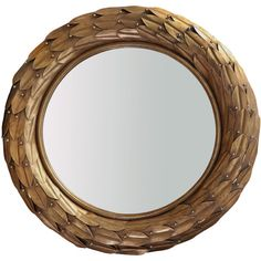 Bungalow 5 Athena Mirror ($729) ❤ liked on Polyvore featuring home, home decor, mirrors, decor, living room, framing mirrors, gold leaf mirror, metallic mirror, greek home decor and inspirational home decor