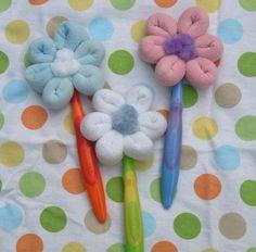 Baby Washcloth Lollipops Baby Girl Shower Washcloth