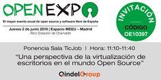 """Qindel Group presenta """"una perspectiva de la virtualización de escritorios en el mundo open source"""" en Open Expo 2016"""