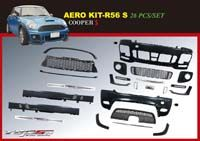 2011+ MINI Cooper S (R56) TOPSUN AERO BODY KIT for Facelift Model - Chromiumtech Limited