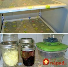 Press'N Seal on your fridge shelves for easy cleaning. Why didn't I think of this. Freezer Hacks, Grand Menage, Clean Refrigerator, Fridge Shelves, Hard Water Stains, Clean Your Car, House Smells, Do It Yourself Home, Sliding Glass Door