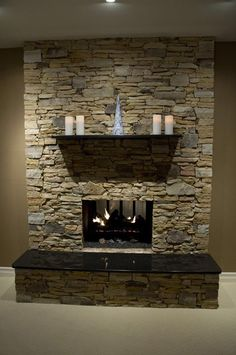 stone veneeer fireplace | Stone Veneer Fireplace - West Mt. Field & Ledge - Pinnacle Stone ...