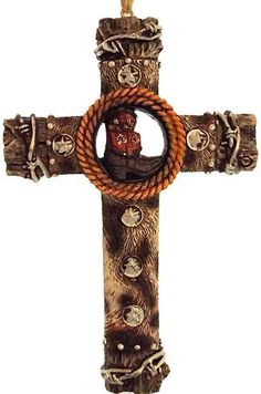 Western Cross with Cowboy Boots