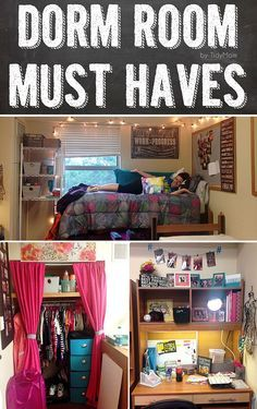 A dorm room is a college student's home away from home. But let's be honest: the blank space is tiny, lacks style and organization. With the right list, you can turn a dorm room into a cozy, comfortable space for sleeping, studying, and socializing with these Dorm Room Must Haves that no college student should head to campus without.