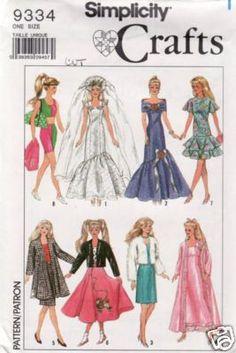 Barbie pattern Simplicity 9334
