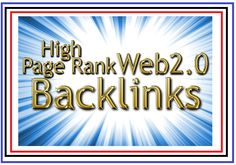 I Will Create High PR and Best Quality 25 web 2 0 Blogs. 100% Unique articles 500 words Each Article. Use High PR Do-follow sites Keyword in build with user name (as sub domain) Proper keyword meta title Relevant text, and 1 or 3 hyperlinks based on client details and 10 High PR 9 to 7 Angela & Paul Profile Backlinks  Orders complete within 3-5 business days
