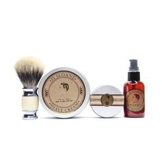 Our Deluxe Shave Kit is the perfect gift for any dapper GRADUATE. Give it as a set or break it up for individual gits. Either way you can't go wrong with this curated box set from New York grooming experts JS Sloane ( WAS:$99 NOW:$69 ) #ShopKIE #JSSloane #MensGrooming #Graduation #SALE #GigEm  J o i n  T h e  M o v e m e n t  w w w . S H O P K I E . c o m  INCLUDES THE FOLLOWING:  2oz Medium Weight Brilliantine  8oz Shave Cream  2oz Pre Shave Oil  Badger Shave Brush  Like Tweet Pin it Fancy…