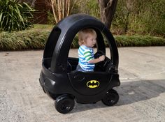 A tutorial on how to upcycle an old Step Car into a cool Batmobile!