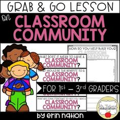 This lesson starts and leads the discussion on building a classroom community. Classroom Community, A Classroom, Guidance Lessons, School Counselor, Counseling, Back To School, Teacher, Messages, How To Plan