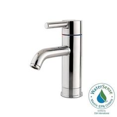 Pfister Contempra 4 in. Centerset Single-Handle Bathroom Faucet in Polished Chrome-GT42-NC00 - The Home Depot