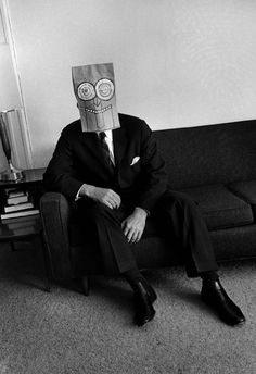 Saul Steinberg's Mask series in the Foam Magazine by Inge Morath, 1962 - Ananas à Miami