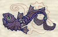 Embroidery Designs at Urban Threads - Mechanica Aquatica - Fish Border