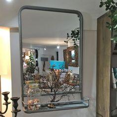LA17 Grey Metal Framed Wall Mirror £95 | dorisbrixham.co.uk