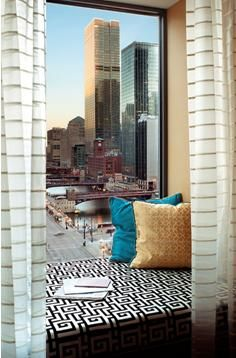 Amazing window seats allow you to relax and drink in Chicago!  Kimpton Chicago; Weddings; Kimpton Hotels