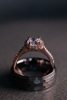 Wedding Rings Navy and Gold Citrus Club Wedding Downtown Orlando