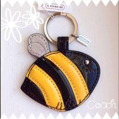 Coach Resort Bumble Bee Keychain~NWT~ Coach Resort Bumble Bee Keychain~NWT~ Coach Accessories Key & Card Holders