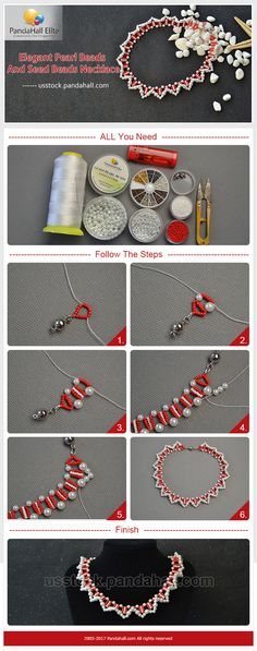 PandaHall Elite elegant pearl beads and seed beads necklace DIY