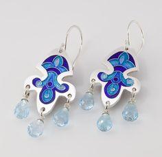 Sandra McEwen Bluebird Earrings