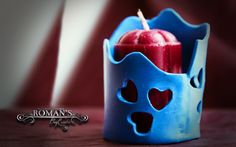Candle Holders - Roman's polymer clay sculptures
