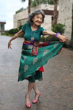 """When people say that I'm old I think about the trees and how they are hundreds of years old and recycle themselves every winter. I recycle myself every winter like the trees and get ready for the spring to dance my way through life."" 97-year-old yoga master, dancer, model and all around wonder woman Tao Porchon Lynch http://advancedstyle.blogspot.hr/2015/10/tao-porchon-lynch.html"