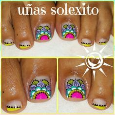 Pedicure, Nails, Finger Nails, Nail Art Tutorials, Simple Toe Nails, Toe Nail Art, Pedicures, Ongles, Nail